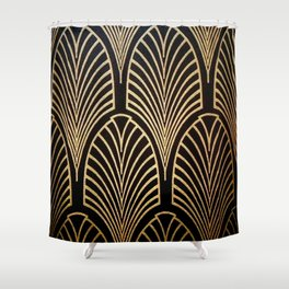 Art nouveau Black,bronze,gold,art deco,vintage,elegant,chic,belle époque Shower Curtain