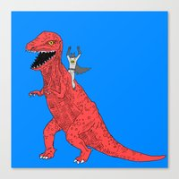 dinosaur Canvas Prints featuring Dinosaur B Forever by Isaboa
