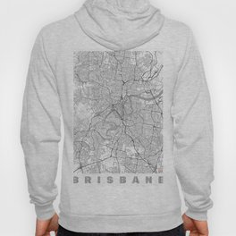 Brisbane Map Line Hoody