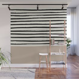 Latte & Stripes Wall Mural