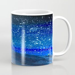 Moon Rising as an orange dot in the Great Sand Dunes National Park, USA travel Coffee Mug