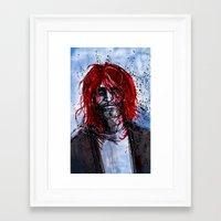 kurt rahn Framed Art Prints featuring Kurt by Stewart Cook