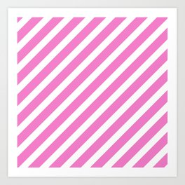 Basic Stripes Pink Art Print