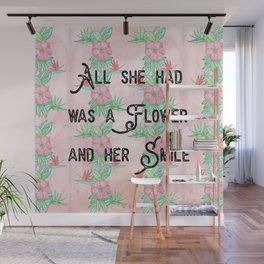Surfer girl quotes Wall Mural