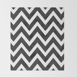 black chevron Throw Blanket