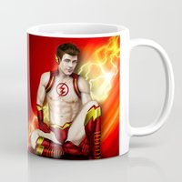 flash Mugs featuring Flash by Steven H. Garcia