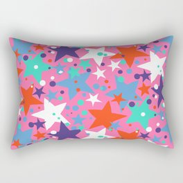 Fun ditsy print with constellations and twinkle lights Rectangular Pillow