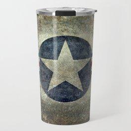 USAF vintage retro style roundel Travel Mug