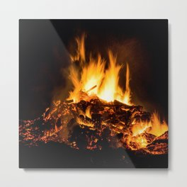 Fire flames Metal Print