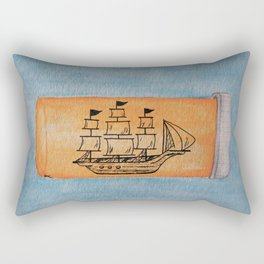 ship in a pill bottle Rectangular Pillow
