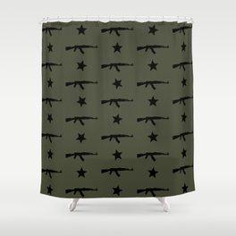 AK-47 Pattern Shower Curtain