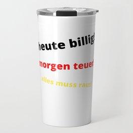 Cheap Today, Expensive Tomorrow Travel Mug