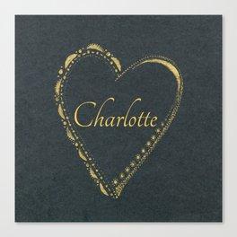 use blackheart Canvas Print