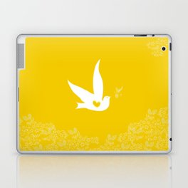 Love and Freedom - Gold/Yellow Laptop & iPad Skin