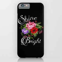 Cute Chic Love Life Flowers Gift iPhone Case