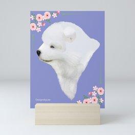 Samoyed Pup Portrait Mini Art Print