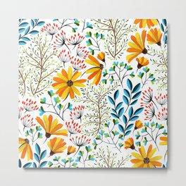 Spring Foral Pattern Metal Print