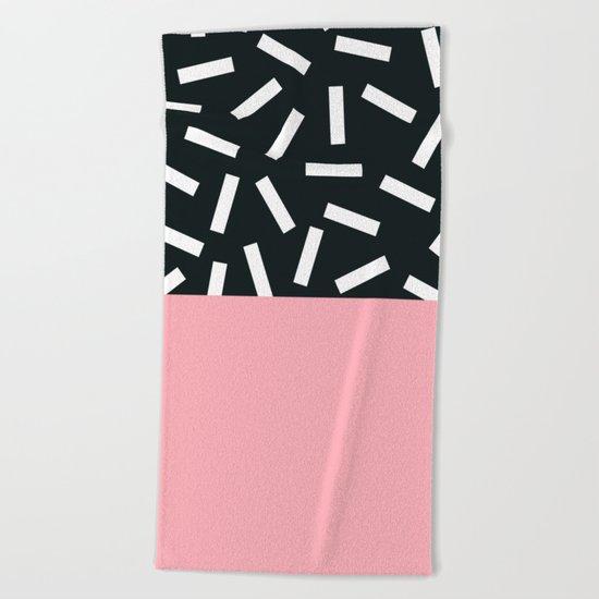 Memphis pattern 24 Beach Towel