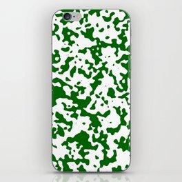 Spots - White and Dark Green iPhone Skin