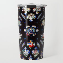 Stained glass sainte chapelle gothic Travel Mug