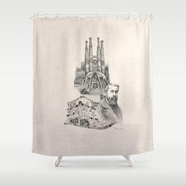 Tribute to Gaudi Shower Curtain