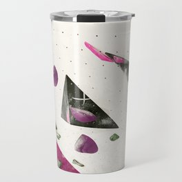 Maroon climbing wall boulders bouldering gym abstract geometric print Travel Mug