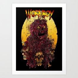 WORM BOY Art Print