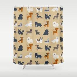 EASTERN EUROPEAN DOGS Shower Curtain
