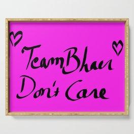 TeamBhaer Don´t Care - Pink & Black Palette Serving Tray