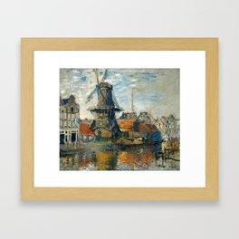 """Claude Monet """"The Windmill, Amsterdam"""", 1871 Framed Art Print"""