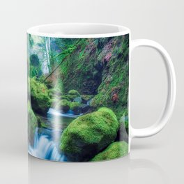 Photo USA Elowah Falls Oregon HDRI Nature Waterfalls Moss Water Stones HDR stone Coffee Mug