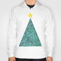 christmas tree Hoodies featuring Christmas tree by Bridget Davidson