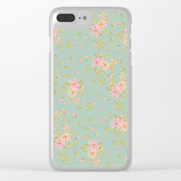 Summer skirt: Dainty floral vintage style pattern Clear iPhone Case