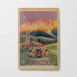 Abruzzo Italian travel back from church Metal Print