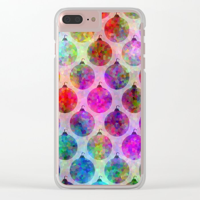 Holiday Colors Clear iPhone Case