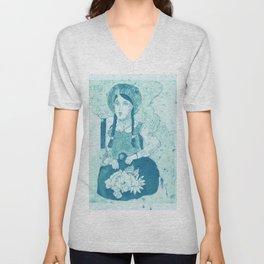 Anne of Green Gables Blue Unisex V-Neck
