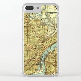 Vintage Map of Toledo Ohio (1938) Clear iPhone Case