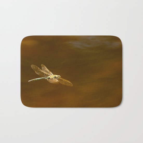Dragonfly In Flight  Bath Mat