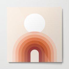 Mid Century Modern Geometric 18 (Earthy Shades) Metal Print