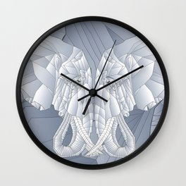 Stone Elephant Wall Clock