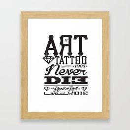 art tattoo TYPO Framed Art Print