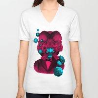 predator V-neck T-shirts featuring PREDATOR by DIVIDUS