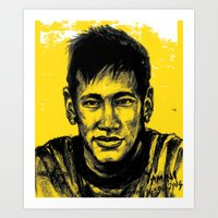 neymar Art Prints featuring Neymar by yamini