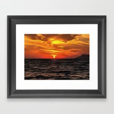 Sunset Over The Mediterranean Sea Framed Art Print