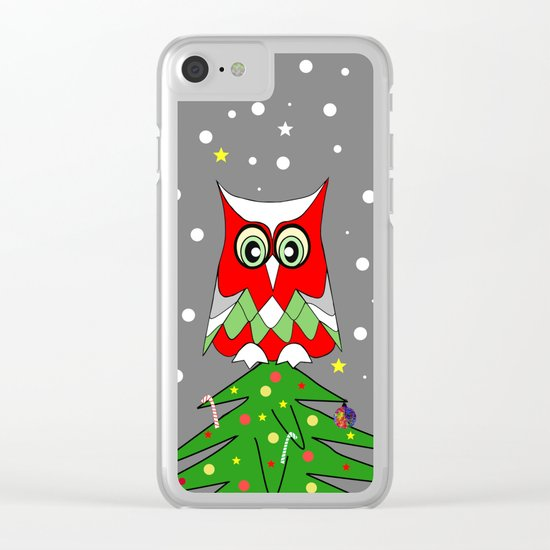 Tree Top Owl Clear iPhone Case