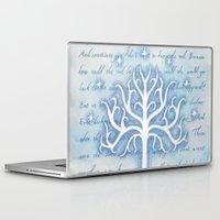 gondor Laptop & iPad Skins featuring Tree of Gondor by JadeJonesArt