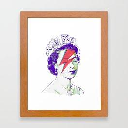 Queen Elizabeth / Aladdin Sane Framed Art Print
