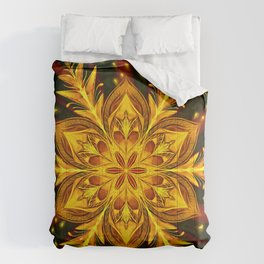 Forest Fire Flake Comforters