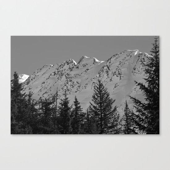 Gwin's Winter Vista - B & W Canvas Print