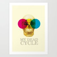 cycle Art Prints featuring CYCLE by Nazario Graziano